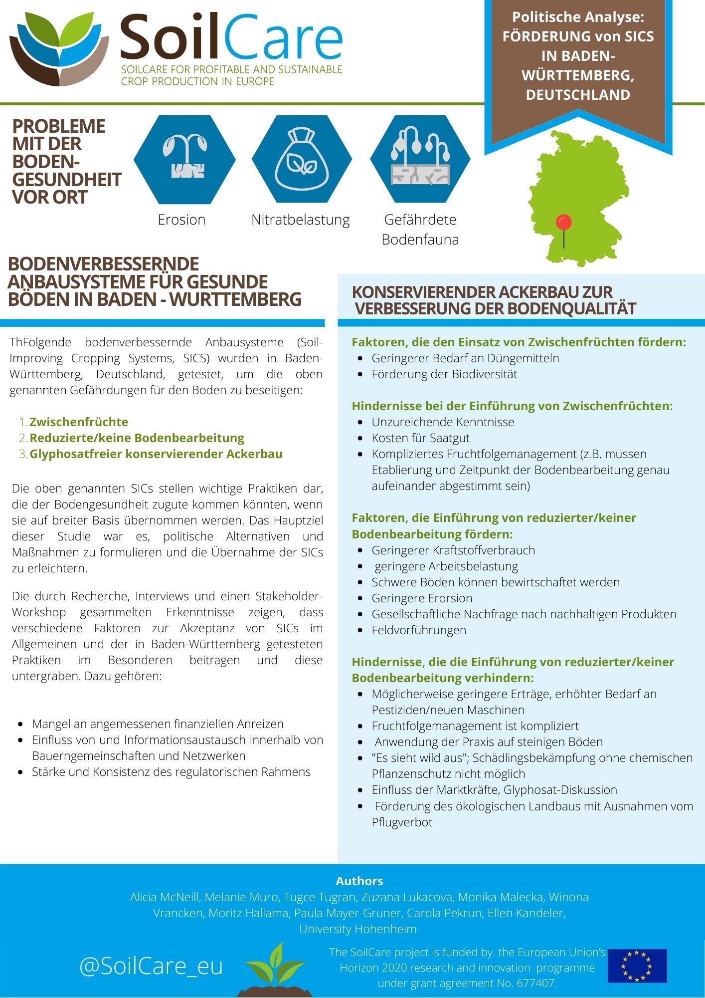 DE SoilCare policyöversikt TYSKLAND