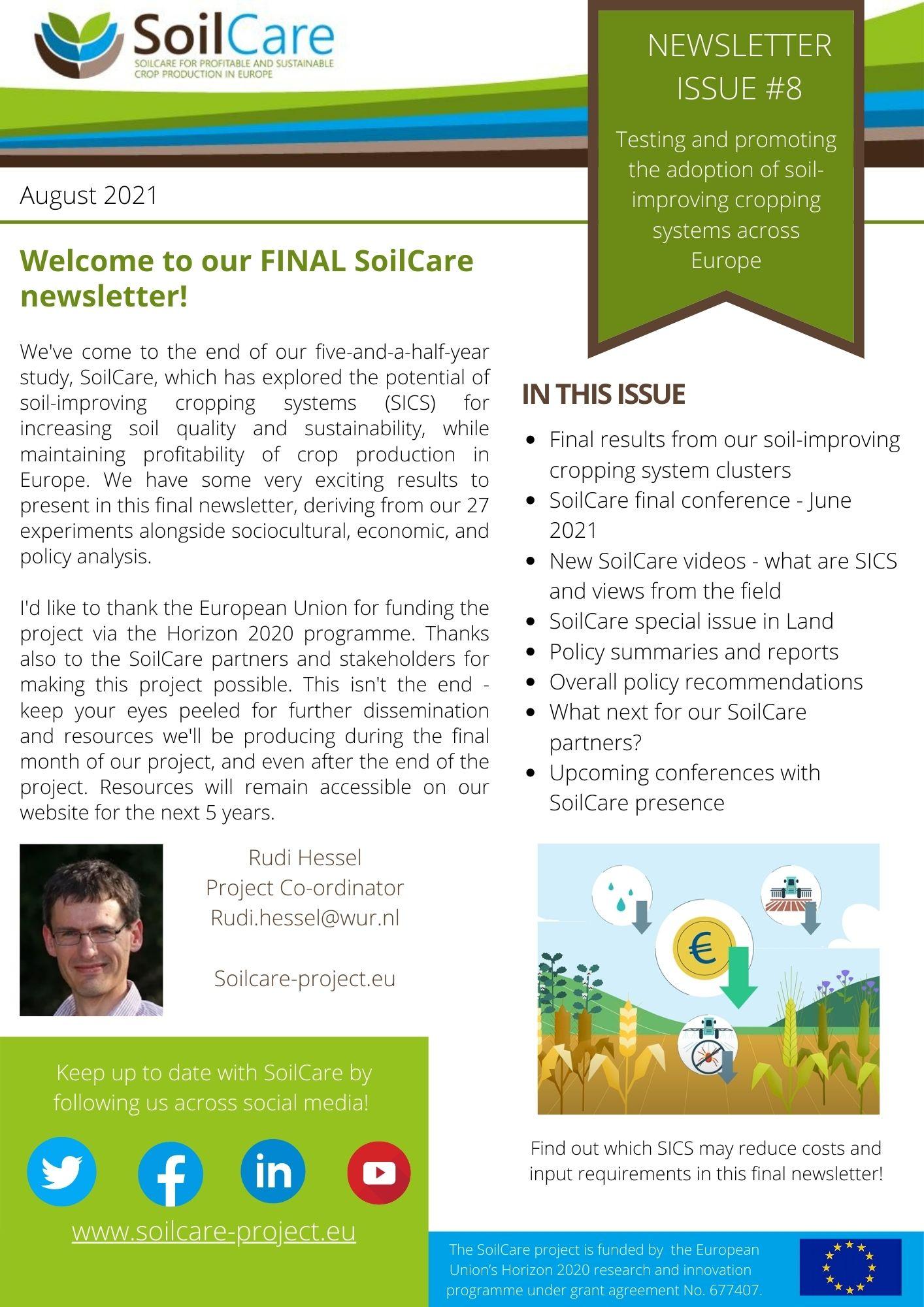 SoilCare -nyhetsbrev 8