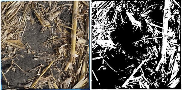 imagem de resíduo de colheita